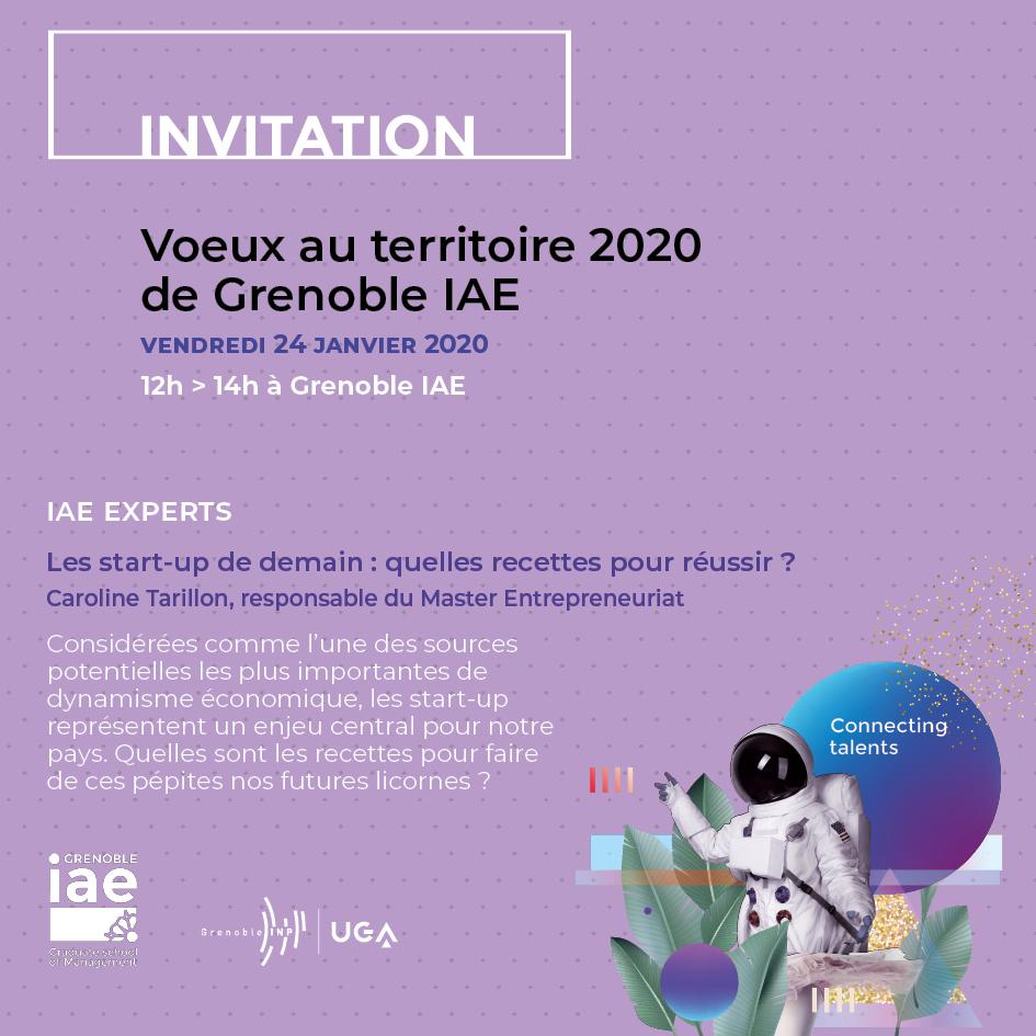 invitation voeux 2020 territoire Grenoble IAE